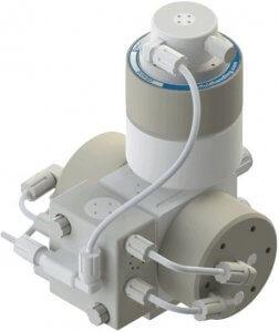 PSA030 Pump with DBA030 Pulse Dampener Top Mounted
