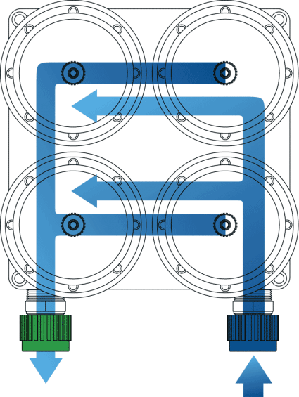 Quad-Camber Parallel Filter Housing