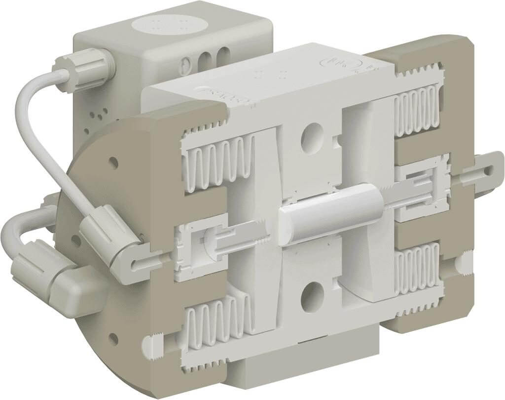 White Knight Liquid-Side Shaft in PSA060 High-Purity Pump